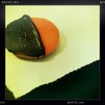Black and Orange Cookie